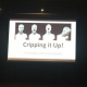 Image of JulieMc's presentation slide showing four photos of disabled artist Alison Lapper.